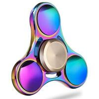 Hand Fidget Spinner EDC ADHS Toy Spielzeug Anti Stress Spinning Metal rainbow