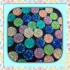 💖 🇬🇧 Pink,blue,green,purple,red x 40 Twinkling Rhinestones Cabochons