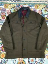 Obey Propaganda Wool Military Winter Coat Jacket Mens Sz XL Quilted Lining Green
