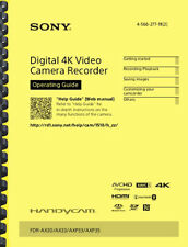 Sony FDR-AX33 FDR-AX30 OPERATING GUIDE OWNER'S MANUAL