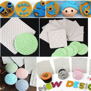Baby Knit Fondant Embosser Weave Mat Mould Cake Sugarcraft Decorating Tool Mold