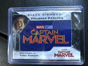 2021 Upper Deck Marvel Black Diamond Brie Larson SSP Captain Marvel Patch /49