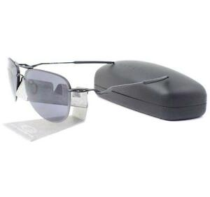 Oakley OO 4086-09 Tailpin Satin Black Frame w/ Grey Lens Mens Wire Sunglasses