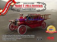 "ICM 24004 "" Model T 1914 Firetruck, American Car "" Plastic Model Kit 1/24"
