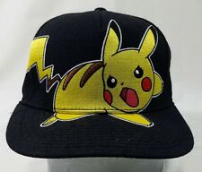Pikachu Pokemon Snapback Cap 2013 Nintendo Creatures Game Freak Black Yellow Hat