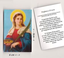 Santino SANTA LUCIA con preghiera Giovanni XXIII ANGELO RONCALLI