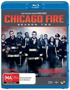 Chicago Fire : Season 2 (Blu-ray, 2014, 5-Disc Set) Series Two BLU RAY
