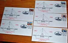 Set Of 5 Turntable Dedication Train First Day Cover 33 Cent Stamp Folsom 1999