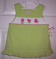 NWT Smocked Girls Top by Castles & Crowns Size 6/6X