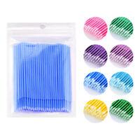 100Pcs Micro Brush Cosmetic Lip Eyelash Cotton Swabs for Multipurpose Applicator