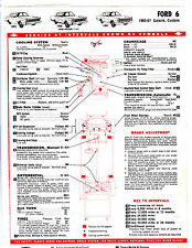 1965 1966 1967 FORD 6 TEXACO CHEK-CHART LUBRICATION LUBE TUNE-UP CHARTS