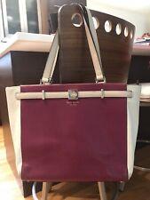 Kate Spade…Color Block Tote/Shoulder Bag… Berry/Cream…