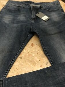Mens Denim Colab Saltwater & Song Slim Jeans 36 Black Raw Holloways #2A18