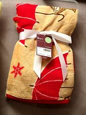 CARTER BABY BLANKETS (1) Cartoon Tan & Red w/Umbrella Brand New In Package