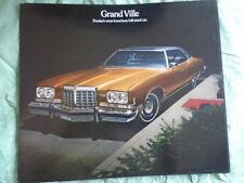 Pontiac GRAND VILLE BROCHURE 1974 Stati Uniti del mercato di grande formato