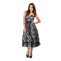 Lindy Bop 'Maisie' BNWT Vintage Party Prom Dress Devore Tulle Plus Size 18 20 22