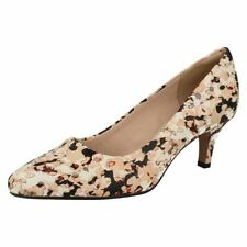 100% Leather Court Stiletto Floral Heels for Women