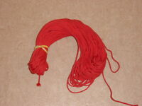 25 metres high quality red braided 3mm roman/venetian blind cord very strong