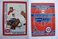 2015 SCA Tony Esposito Montreal Canadiens goalie never issued produced #d/10