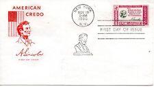 US FDC #1143 Lincoln Credo, House Of Farnam (5256)