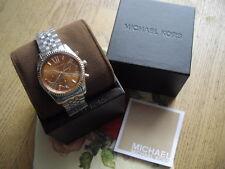 Michael Kors  Armbanduhr MK 6221 Uhr Silber Edelstahl Lexington Neu Chronograph