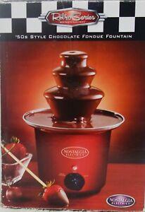 New! Retro Series Nostalgia Electrics' 50s Style Chocolate Fondue Fountain