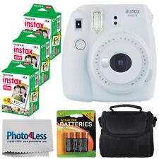 Cámara instantánea Fujifilm Instax Mini 9 Blanco Ahumado + 60 películas + estuche + baterías