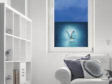 Sichtschutz Fensterfolie Farbige Folie für Wohnzimmer Schmetterling blau
