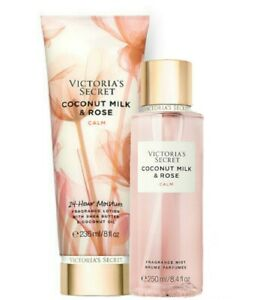 Victoria's Secret Coconut Milk & Rose Fragrance Lotion + Fragrance Mist Duo Set