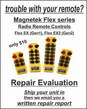 Magnetek Flex Repair Evaluation of Crane Hoist Radio Remote 4EX2 6EX2 8EX2 12EX2