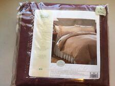 King Comforter Set 3 Piece Burgundy Microsuede Bed comforter Duvet set New sears