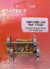 Slaters 7122D 1 x Pair Disc Std Wagon Wheels & Brass Bearings Kit '0' Gauge T48