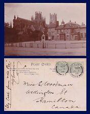 UK CAMBRIDGE ELY REAL PHOTO TOBACCONIST, CATHEDRAL 1906 E WOODMAN, HAMILTON, ONT