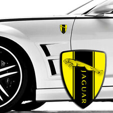 JAGUAR YELLOW wing Badge 3d epoxy decal domed Stickers 70X90mm 2pcs