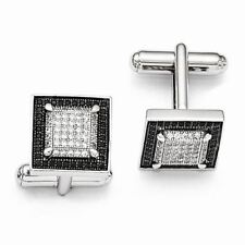 Brilliant Embers Sterling Silver and CZ Cuff Links MSRP $194