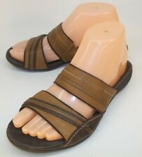 Merrell Womens Sandals Slides PICCOLO US 6 Brown Leather Slip-On Walking