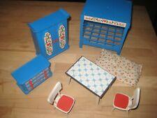 ältere  Puppenhaus Möbel Plastik / Konvolut / 70er Jahre