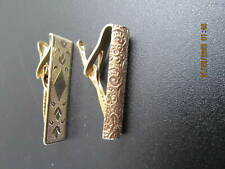 Lot of 2 Vintage Gold Tone Tie Bar Clips/ Clasps