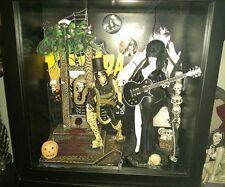 ELVIRA Mistress of the Dark Custom Figure Creations Shadow box W/ Alice Cooper