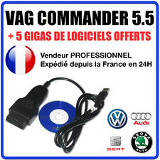 VAG COMMANDER 5.5 - Correction KM Reprogrammation clés Ajout d'options COM VAG