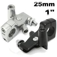 "25mm 1"" Motorcycle Clutch Lever Mirror Holder Bracket For Honda Shadow 600 VT750"