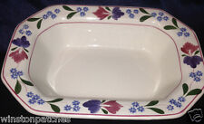 """ADAMS CHINA ENGLAND IRONSTONE OLD COLONIAL 9"""" VEGETABLE BOWL FLORAL OLDER STAMP"""