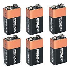 Shrink Pack Of 6X DURACELL 9V PP3 Heavy Duty Block Alarm MN1604 Battery Alkaline