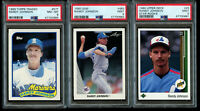 3 Lot Randy Johnson PSA 9 Mint Rookie 1989 Upper Deck RC 1990 Leaf Topps Traded