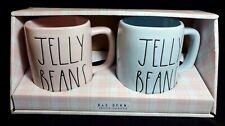 Rae Dunn JELLY BEANS Mugs Pink & Blue Set/2 HTF! NEW! Fast Ship!