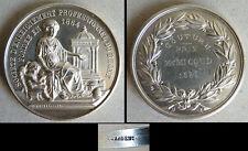 Médaille argent massif PRIX DE COUTURE Rhone Lyon silver medal  1886 38 gr