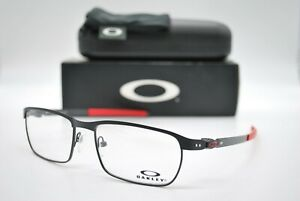 NEW OAKLEY OX3184-0954 TINCUP BLACK/RED AUTHENTIC EYEGLASSES FRAME RX 54-17