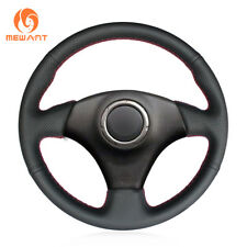 Black PU Leather Steering Wheel Cover for Toyota RAV4 Celica Caldina Lexus IS200