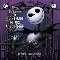 Tim Burton's The Nightmare Before Christmas 2020 Calendar - Wall Format Calendar