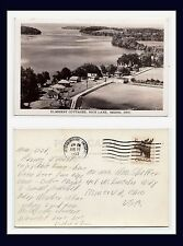 ONTARIO KEENE ELMHIRST COTTAGES  RICE LAKE REAL PHOTO AUG 27 1953 TO MINERVA, OH
